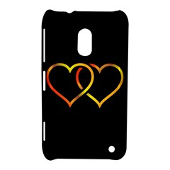 Heart Gold Black Background Love Nokia Lumia 620