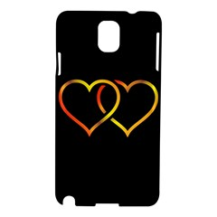 Heart Gold Black Background Love Samsung Galaxy Note 3 N9005 Hardshell Case
