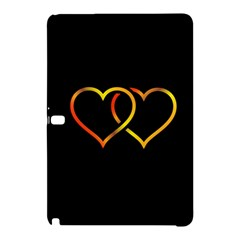 Heart Gold Black Background Love Samsung Galaxy Tab Pro 12 2 Hardshell Case