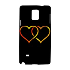 Heart Gold Black Background Love Samsung Galaxy Note 4 Hardshell Case