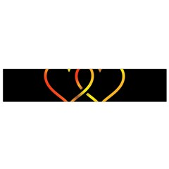 Heart Gold Black Background Love Flano Scarf (small)