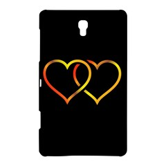 Heart Gold Black Background Love Samsung Galaxy Tab S (8 4 ) Hardshell Case