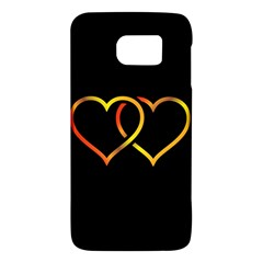 Heart Gold Black Background Love Galaxy S6
