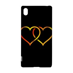 Heart Gold Black Background Love Sony Xperia Z3+