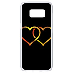 Heart Gold Black Background Love Samsung Galaxy S8 White Seamless Case