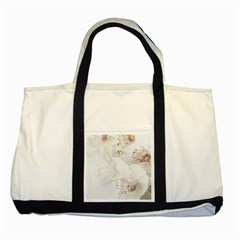 Orchids Flowers White Background Two Tone Tote Bag
