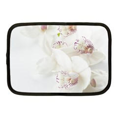 Orchids Flowers White Background Netbook Case (medium)