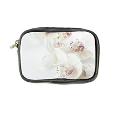 Orchids Flowers White Background Coin Purse