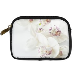 Orchids Flowers White Background Digital Camera Cases
