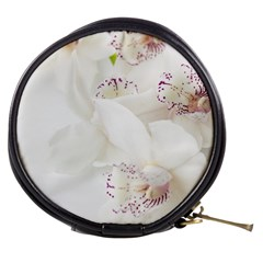 Orchids Flowers White Background Mini Makeup Bags