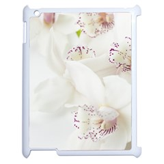 Orchids Flowers White Background Apple Ipad 2 Case (white)