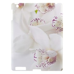 Orchids Flowers White Background Apple Ipad 3/4 Hardshell Case