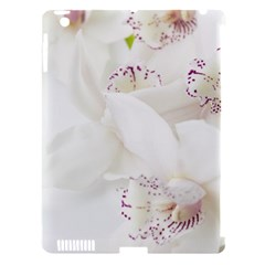 Orchids Flowers White Background Apple Ipad 3/4 Hardshell Case (compatible With Smart Cover)