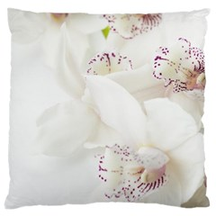 Orchids Flowers White Background Large Cushion Case (one Side)