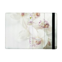 Orchids Flowers White Background Apple Ipad Mini Flip Case