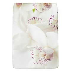 Orchids Flowers White Background Flap Covers (s)
