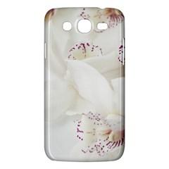 Orchids Flowers White Background Samsung Galaxy Mega 5.8 I9152 Hardshell Case