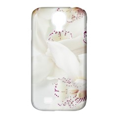 Orchids Flowers White Background Samsung Galaxy S4 Classic Hardshell Case (pc+silicone)