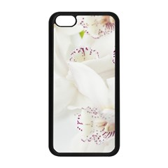 Orchids Flowers White Background Apple Iphone 5c Seamless Case (black)