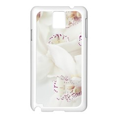 Orchids Flowers White Background Samsung Galaxy Note 3 N9005 Case (White)