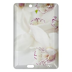 Orchids Flowers White Background Amazon Kindle Fire HD (2013) Hardshell Case
