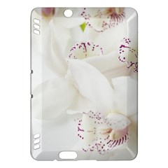 Orchids Flowers White Background Kindle Fire HDX Hardshell Case