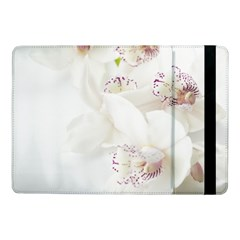 Orchids Flowers White Background Samsung Galaxy Tab Pro 10 1  Flip Case