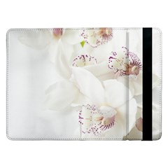Orchids Flowers White Background Samsung Galaxy Tab Pro 12 2  Flip Case