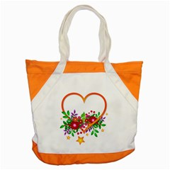 Heart Flowers Sign Accent Tote Bag