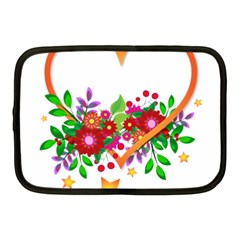 Heart Flowers Sign Netbook Case (medium)