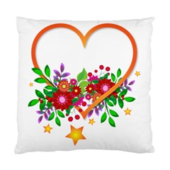 Heart Flowers Sign Standard Cushion Case (two Sides)
