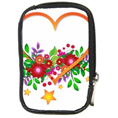 Heart Flowers Sign Compact Camera Cases