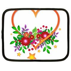 Heart Flowers Sign Netbook Case (XL)