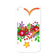 Heart Flowers Sign Apple Iphone 4 Case (white)