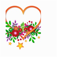 Heart Flowers Sign Large Garden Flag (two Sides)