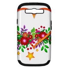 Heart Flowers Sign Samsung Galaxy S Iii Hardshell Case (pc+silicone)