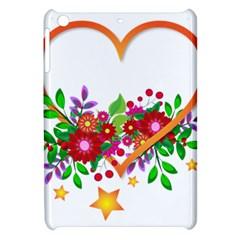 Heart Flowers Sign Apple iPad Mini Hardshell Case