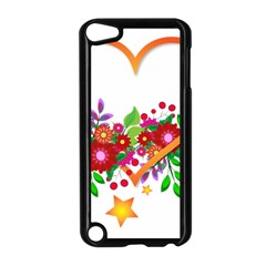Heart Flowers Sign Apple Ipod Touch 5 Case (black)