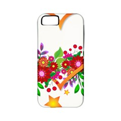 Heart Flowers Sign Apple Iphone 5 Classic Hardshell Case (pc+silicone)