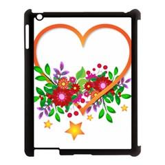Heart Flowers Sign Apple Ipad 3/4 Case (black)