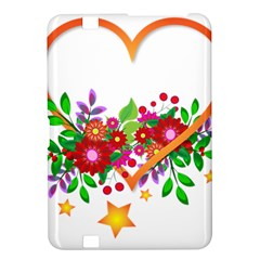 Heart Flowers Sign Kindle Fire Hd 8 9