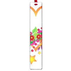 Heart Flowers Sign Large Book Marks