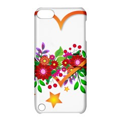 Heart Flowers Sign Apple Ipod Touch 5 Hardshell Case With Stand