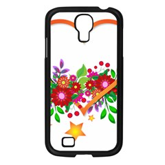 Heart Flowers Sign Samsung Galaxy S4 I9500/ I9505 Case (Black)