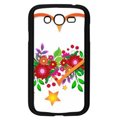 Heart Flowers Sign Samsung Galaxy Grand Duos I9082 Case (black)