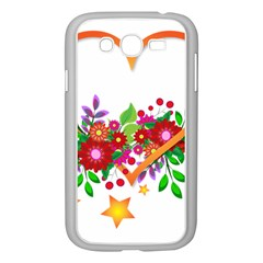 Heart Flowers Sign Samsung Galaxy Grand Duos I9082 Case (white)