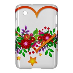 Heart Flowers Sign Samsung Galaxy Tab 2 (7 ) P3100 Hardshell Case