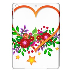 Heart Flowers Sign iPad Air Hardshell Cases