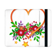 Heart Flowers Sign Samsung Galaxy Tab Pro 8 4  Flip Case