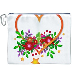 Heart Flowers Sign Canvas Cosmetic Bag (xxxl)